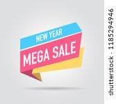 modern design origami ribbon... | Shutterstock .eps vector #1185294946