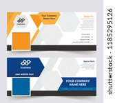 vector business standard size... | Shutterstock .eps vector #1185295126