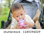 close up infant baby boy... | Shutterstock . vector #1185296029
