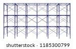 scaffolding frame 3 floors... | Shutterstock . vector #1185300799