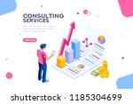 isometric infographic of... | Shutterstock . vector #1185304699