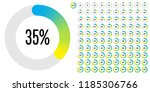set of circle percentage... | Shutterstock .eps vector #1185306766