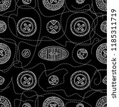 seamless pattern with cloth... | Shutterstock .eps vector #1185311719