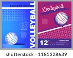 volleyball sport poster in... | Shutterstock .eps vector #1185328639