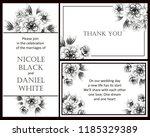 vintage delicate greeting... | Shutterstock .eps vector #1185329389