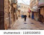 jerusalem  israel   february 16 ...   Shutterstock . vector #1185330853