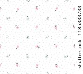 cute floral pattern of small... | Shutterstock .eps vector #1185333733