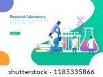 research laboratory vector... | Shutterstock .eps vector #1185335866