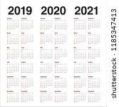 year 2019 2020 2021 calendar...   Shutterstock .eps vector #1185347413