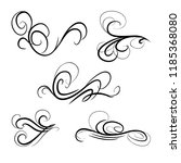 decorative monograms and... | Shutterstock .eps vector #1185368080