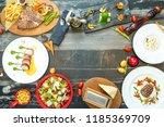 western food beef | Shutterstock . vector #1185369709