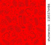 seamless pattern with red... | Shutterstock .eps vector #1185376486