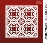 laser cut ornamental panel... | Shutterstock .eps vector #1185386140
