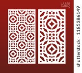 laser cut ornamental set panel... | Shutterstock .eps vector #1185386149