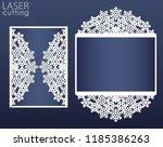 laser cut wedding card template ... | Shutterstock .eps vector #1185386263