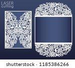 laser cut wedding card template ...   Shutterstock .eps vector #1185386266