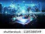 businesswoman on blurred... | Shutterstock . vector #1185388549