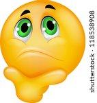 thinking emoticon   Shutterstock .eps vector #118538908