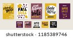 useful advertising set for... | Shutterstock .eps vector #1185389746