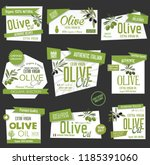 vector collection of olive oil... | Shutterstock .eps vector #1185391060