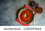 traditional spanish tomato... | Shutterstock . vector #1185393463