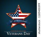 veterans day of usa with star... | Shutterstock .eps vector #1185400399