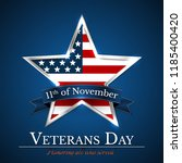 veterans day of usa with star... | Shutterstock .eps vector #1185400420