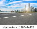 road pavement and guangzhou... | Shutterstock . vector #1185416476