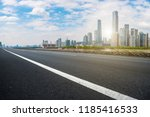 road pavement and guangzhou... | Shutterstock . vector #1185416533