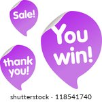 modern violet web icons with...   Shutterstock .eps vector #118541740