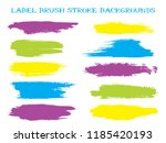 trendy label brush stroke... | Shutterstock .eps vector #1185420193