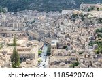Small photo of Top overview of Modica town in Cicily island, Italy