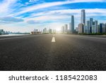 road pavement and guangzhou... | Shutterstock . vector #1185422083