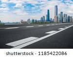 road pavement and guangzhou... | Shutterstock . vector #1185422086