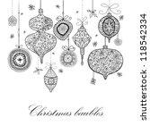 doodle textured christmas...   Shutterstock . vector #118542334