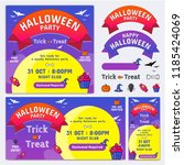halloween banner or poster in... | Shutterstock .eps vector #1185424069