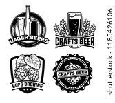 beer badge design set | Shutterstock .eps vector #1185426106