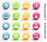 set of education icons vector... | Shutterstock .eps vector #1185435466