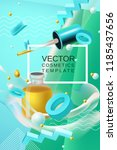 vector abstract poster or... | Shutterstock .eps vector #1185437656