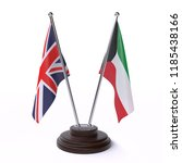 united kingdom and kuwait  two ... | Shutterstock . vector #1185438166