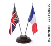 united kingdom and france  two ... | Shutterstock . vector #1185438190