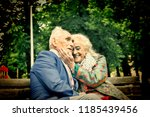 loving mature married couple.... | Shutterstock . vector #1185439456