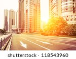 avenue in modern city | Shutterstock . vector #118543960