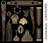 art deco art nuvo diy vector... | Shutterstock .eps vector #1185441493