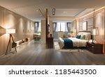 3d rendering luxury modern... | Shutterstock . vector #1185443500