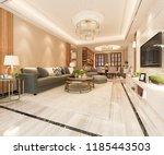 3d rendering modern dining room ... | Shutterstock . vector #1185443503