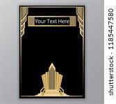art deco golden black elegant... | Shutterstock .eps vector #1185447580