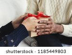 presenting gifts as christmas... | Shutterstock . vector #1185449803