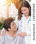 elderly care with senior...   Shutterstock . vector #1185458569