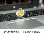 golden and silver ripple coin... | Shutterstock . vector #1185461509